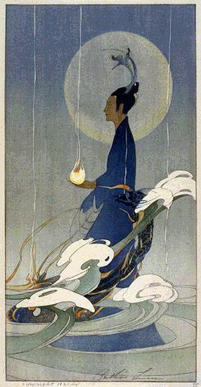 'Asia' by Bertha Lum, 1920. Bertha Lums' work is a great example of Japonisme. You can see how she intergrates both styles of Art Nouveau and Japonisme.