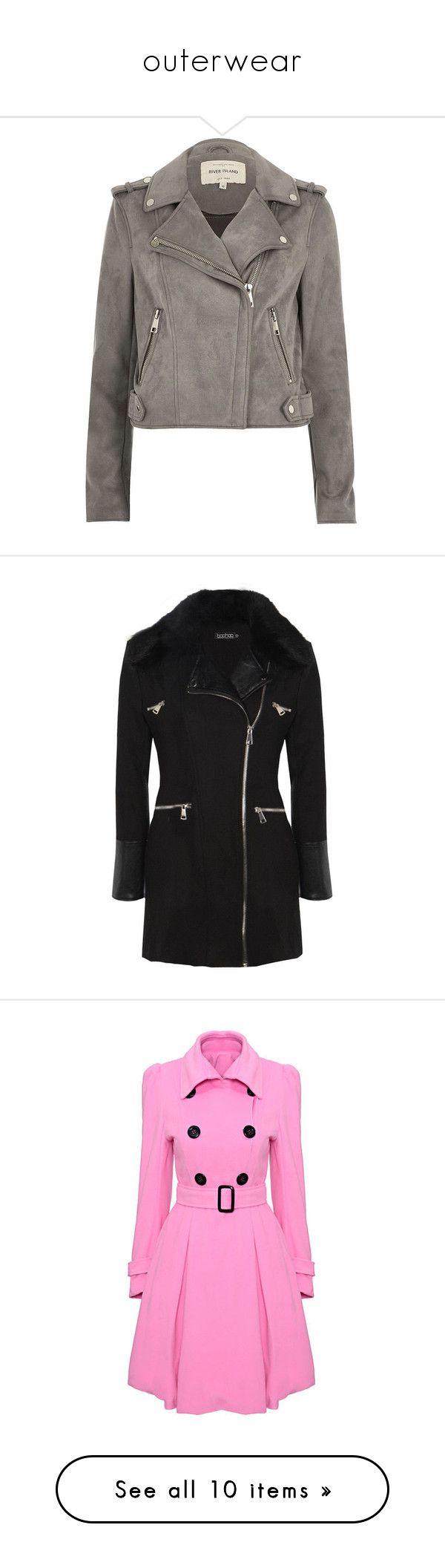 """outerwear"" by emeline-rivera ❤ liked on Polyvore featuring outerwear, jackets, grey, jakker, metallic moto jacket, grey moto jacket, metallic jacket, grey jacket, tall biker jacket and coats"