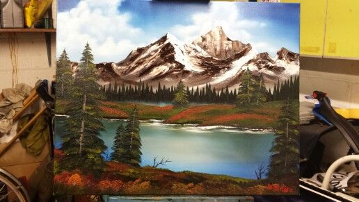 Rocky mountains bob ross replica - Aug 2014