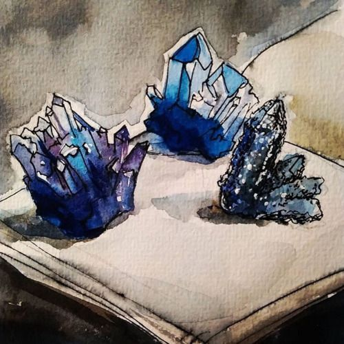 mineraliety:  These illustrations by @zemsovalizzi remind me of Quentin Blake if he were illustrating a Roald Dahl book set in a crystal wonderland ///// www.instagram.com/zemsovalizzi   www.mineraliety.com