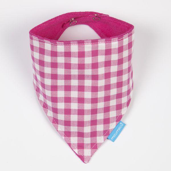 Babero bandana vichy rosa