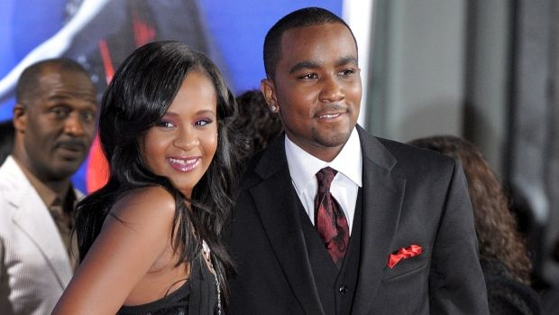 Bobbi Kristina Brown, left, and Nick Gordon attend a movie premiere in Los Angeles in 2012. They were married in 2014.