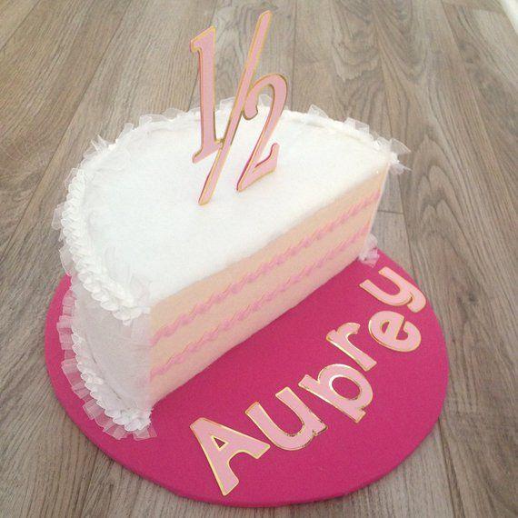 1 2 Birthday Cake With Images Half Birthday Cakes Small