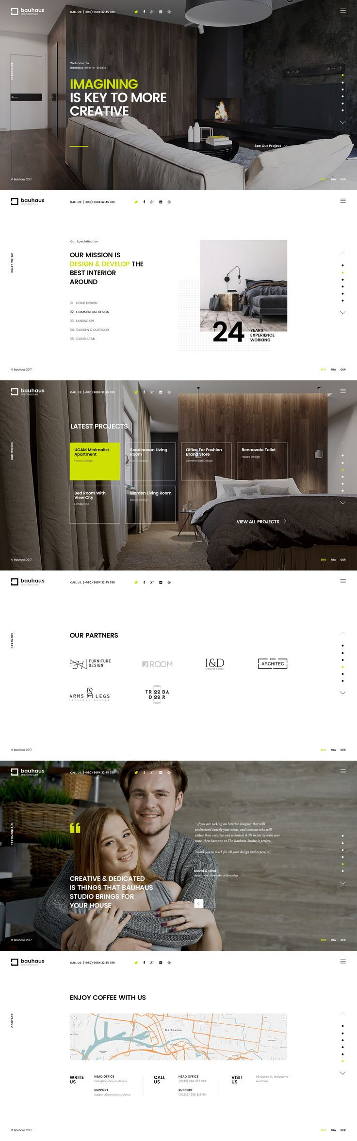 Bauhaus   Architecture & Interior Studio by Logan Cee   dribbble