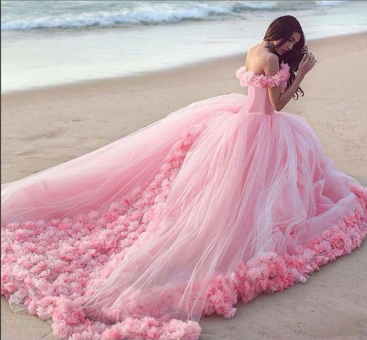 Modest Quinceanera Dress,Pink Ball Gown,Floral Prom Dress,Fashion Prom Dress,Sexy Party Dress, New Style Evening Dress