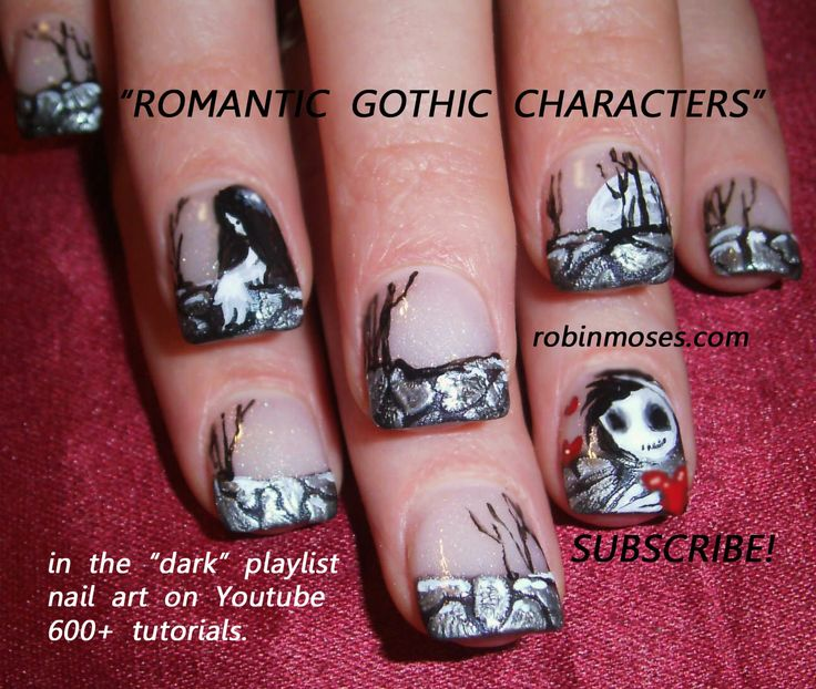 166 best halloween nail art pictures with tutorials images on nail art by robin moses httpyoutube prinsesfo Gallery
