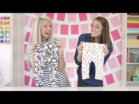 How to Sew a Pair of Leggings, two ways---for any age! - YouTube