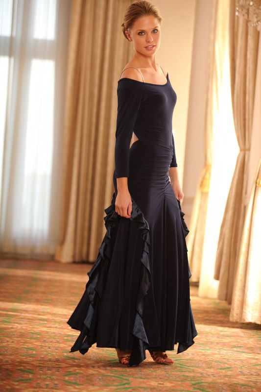 if I could get away with wearing this dress - I would learn to tango