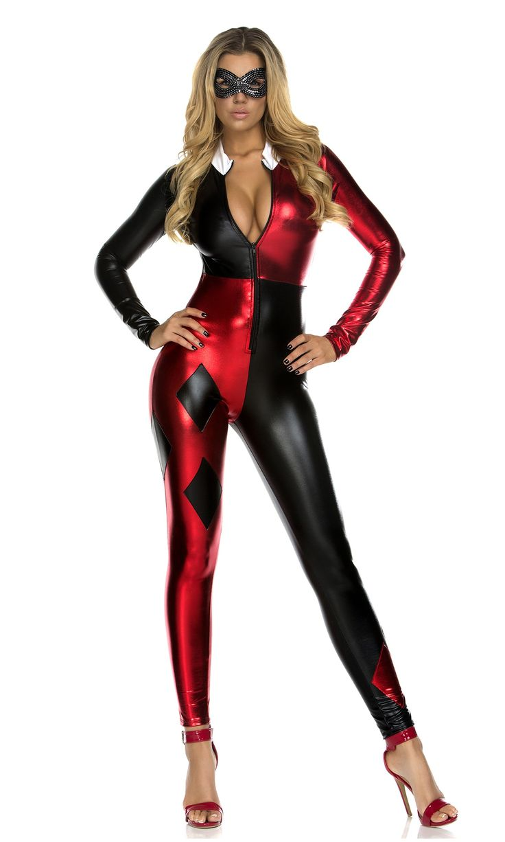Jazzy Jester Famous Jazzy Jester costume includes zip front metallic catsuit with diamond accents and sequin  sc 1 st  Pinterest & 13 best Clowns images on Pinterest | Adult costumes Clown costumes ...