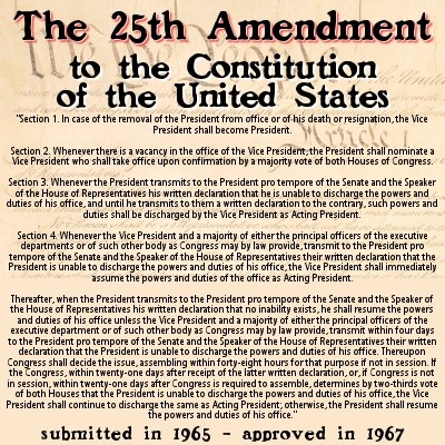 25th Amendment to the U.S. Constitution | USA - Politics and ...