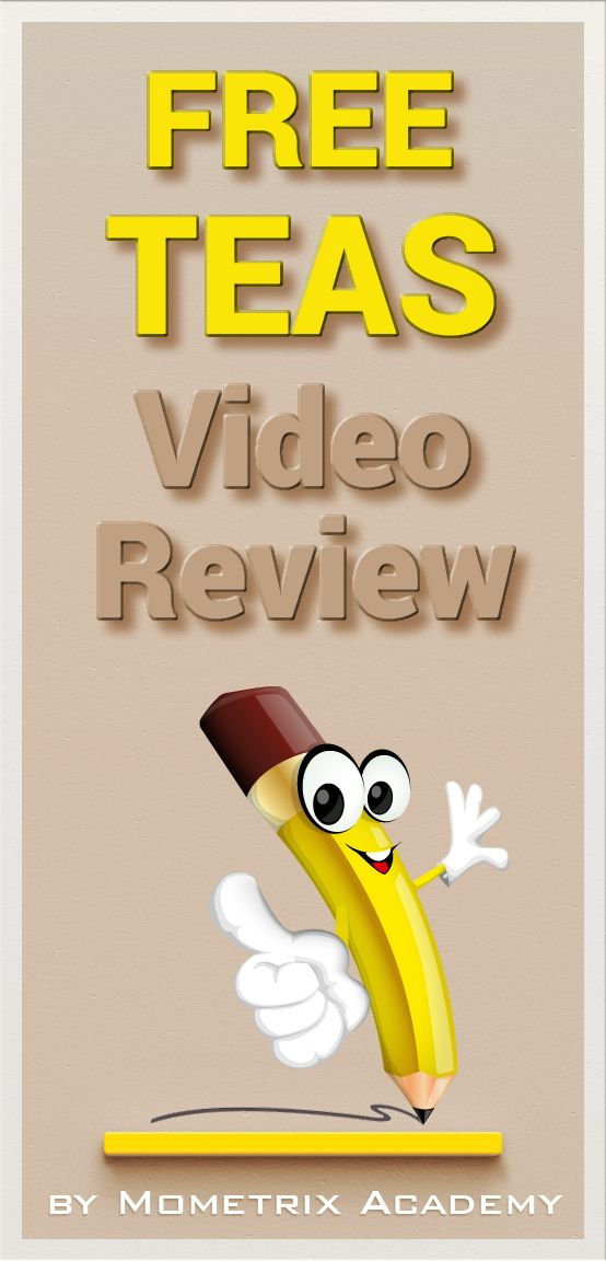 Free TEAS test tutorial video review.  Get the help you need to get into nursing school. #teas #nursingschool