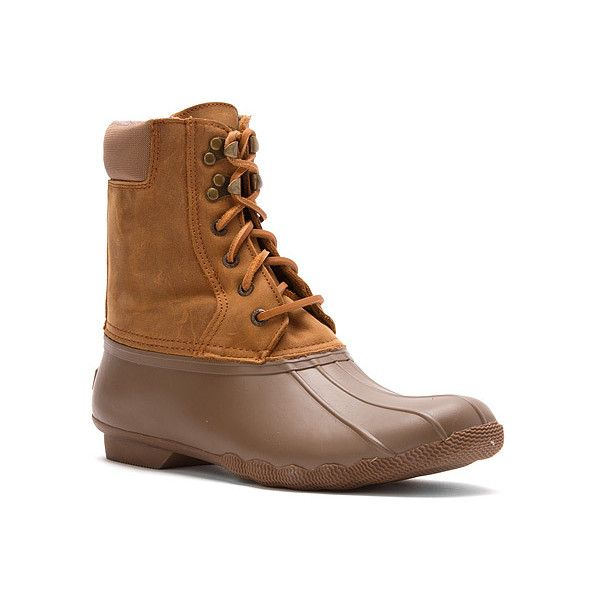 Sperry Shearwater Boots (195 CAD) ❤ liked on Polyvore featuring shoes, boots, duck boots, sperry top-sider, sperry top sider boots, traction shoes and sperry top-sider shoes
