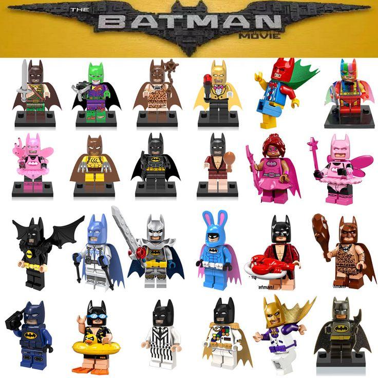 Single sale DC Super Heroes Batman Batgirl Fairy Batman Bathrope legoings Joker Rainbow Building Block Figure Toys Child Gift