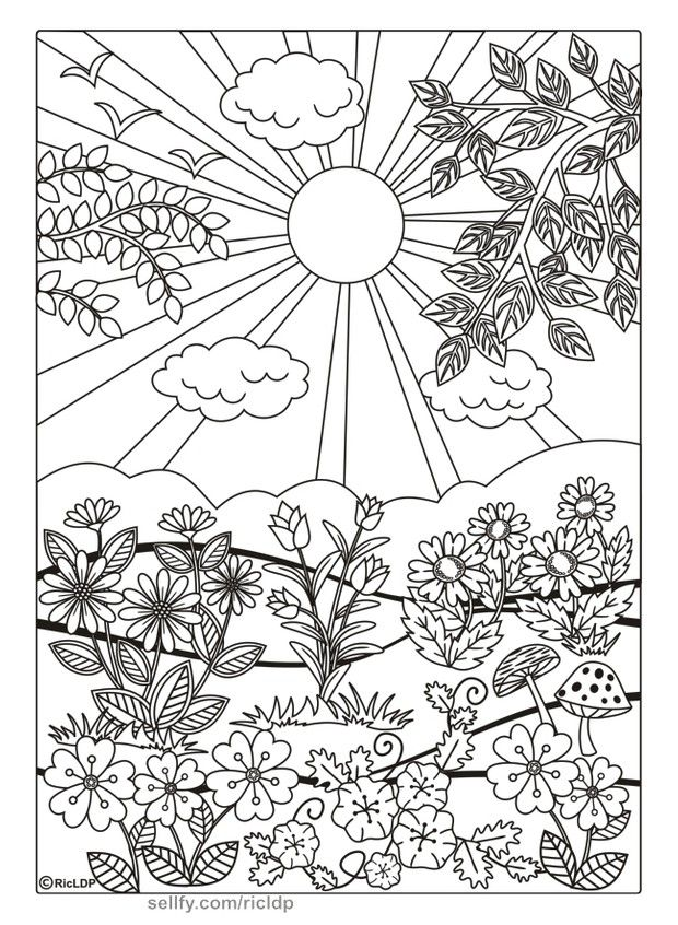 Twenty Adult Coloring Pages Spring Coloring Pages Coloring Pages Adult Coloring Pages