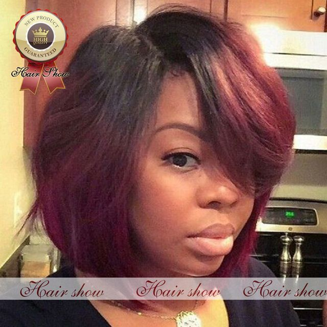 The 25 best black and red ombre ideas on pinterest red black free shipping new short bob virgin human hair lace front wig black and red ombre bob urmus Image collections