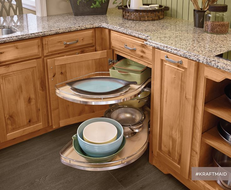 Good Base Blind Corner With Chrome Swing Out Uses Space Thatu0027s Normally Wasted  In A Kitchen. Kraftmaid CabinetsKitchen ...
