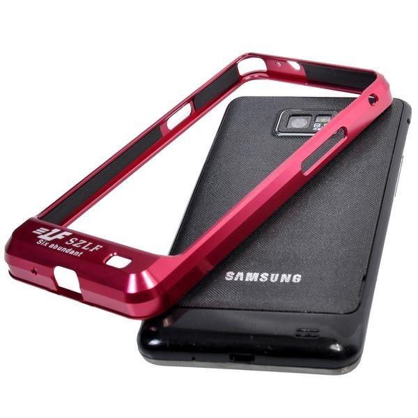 Samsung Galaxy S2 Alumiininen Suojakehys (Punainen)