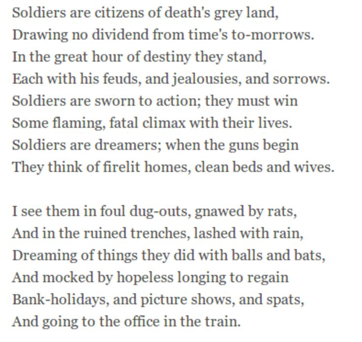 an analysis of wwi poem dreamers What is a good analysis of i dream a world by langston hugues what is the theme of the poem harlem written by langston hughes what is the theme of langston hughes's poem a dream deferred.