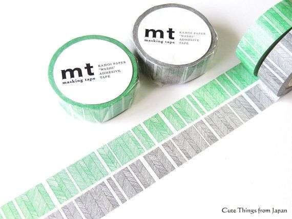 mt Washi Tape Masking Tape Green Black MT01D226-7