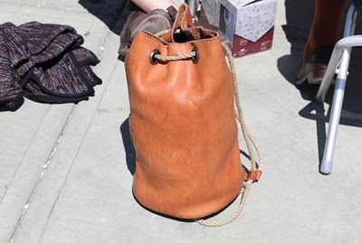 brown baggin' it... with leather!