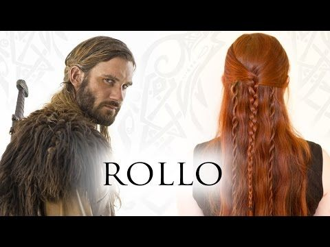 Vikings Hair Tutorial for Men - Rollo Lodbrok (Lothbrok) - YouTube