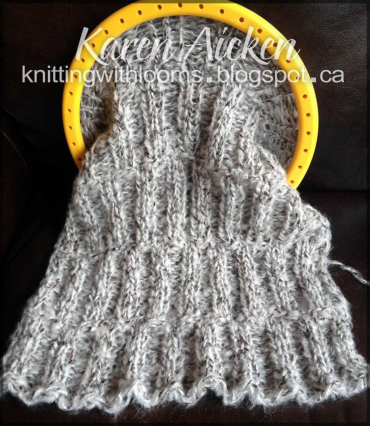 Knitting With Looms: WIP - Mobius Shawl | scarf ...