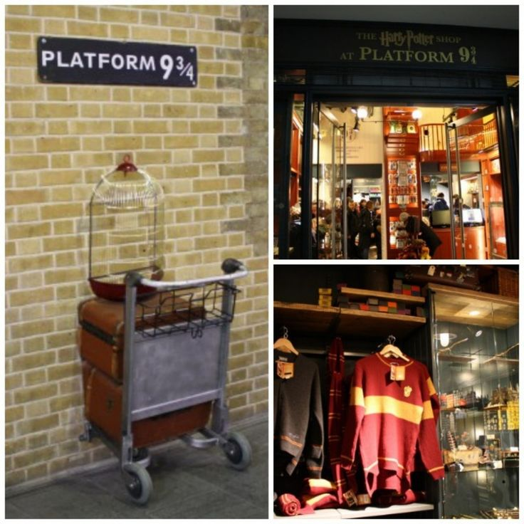 Harry Potter Platform 9 3/4 Shop in London, England / 19 Places That Will Make Your Kid's Dreams Come True (via BuzzFeed)