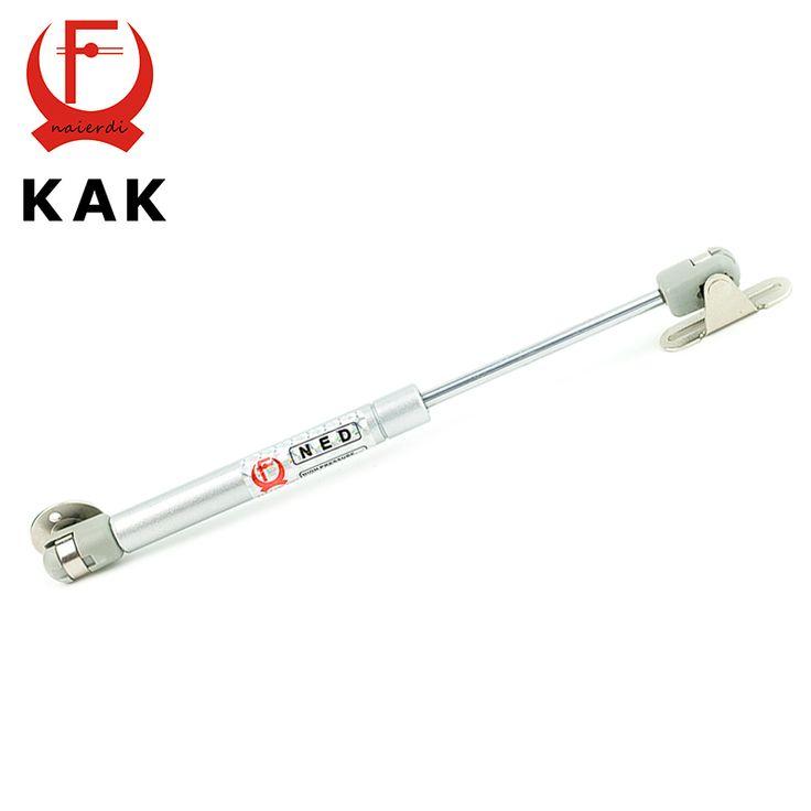 Kak 100n/10 kg fuerza de cobre puerta lift soporte muelle hidráulico bisagra de la puerta del gabinete de cocina armario muebles bisagras hardware