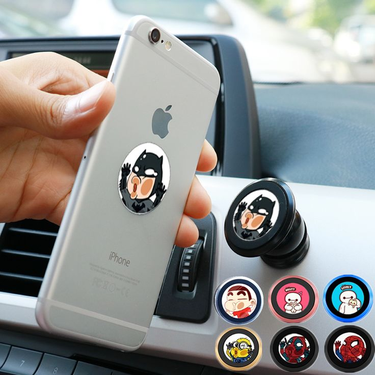 Cute Universal Magnet Car Holder 360 Degree Magnetic Mobile Phone Holder dashboard Mount Automobile Smartphone Navigation Stand