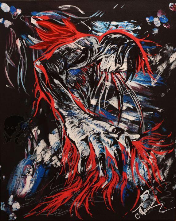 """Tablou pictat in culori acrilice"""" Spirit de foc"""""""