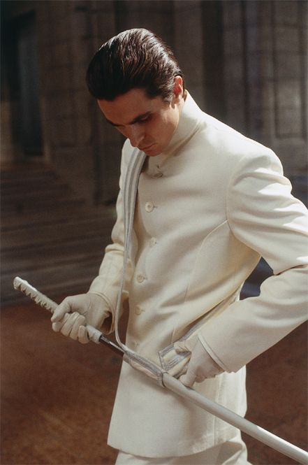 A swarve look for Christian Bale in the film #Equilibrium (2002)