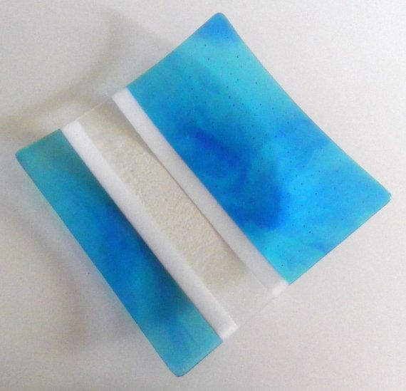 Fused Glass Plates, Fused Glass Art, Stained Glass, Color Blue, Dawn,  Blues, Art Ideas, Squares, Stripes Great Pictures