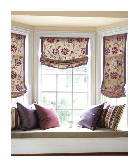 Relaxed Roman blinds - a softer edge