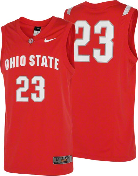 Red Nike Ohio State Jersey. Get a little closer to the court with this replica Ohio State Buckeyes basketball jersey! These are the same ones your favorite up-and-comer wears on the hardwood on game day!