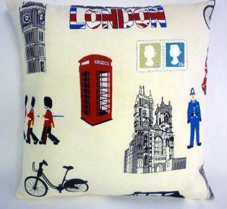 "London Icons Cushion Cover (16"" x 16"")"