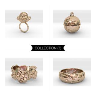 Intergalactic 14k Rose Gold Plated #3Dprint #3Dprintedjewelry #melinablazevicstudio #shapeways #3Dprinting #jewelry #intergalactic #exoplanets #iterativedesign #generativedesign #parametricdesign #design #productdesign #mesh #meshpattern #wireframe #fashion #fashiondesign