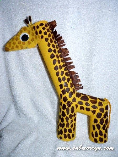 Toilet paper roll giraffe more toilet paper rolls arts crafts toilet