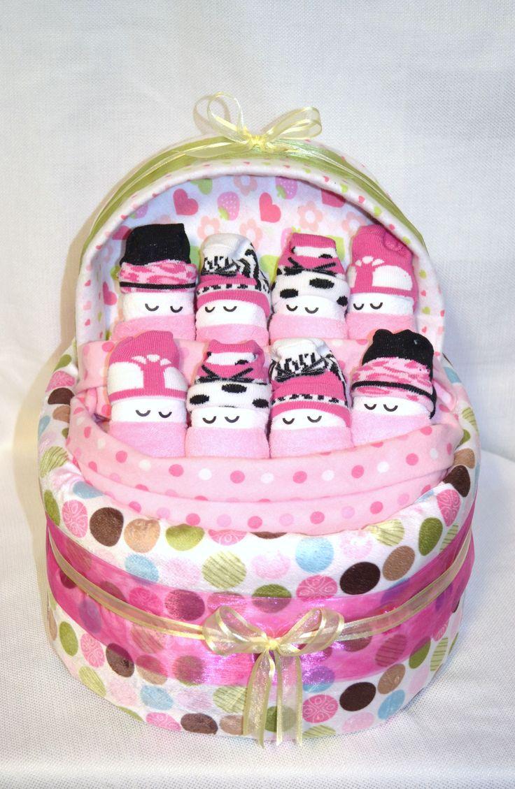 Sleeping diaper babies in their diaper bassinet...