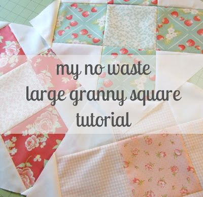 notes of sincerity: another granny square quilt block tutorial. this time only larger.