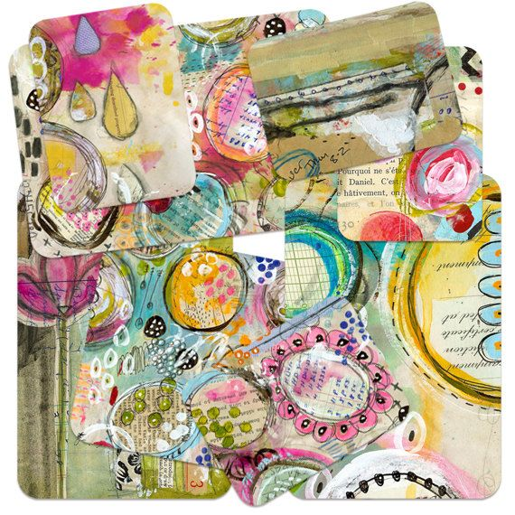 ART POPS Mixed Media Artist Card Set One and by Robenmariesmith