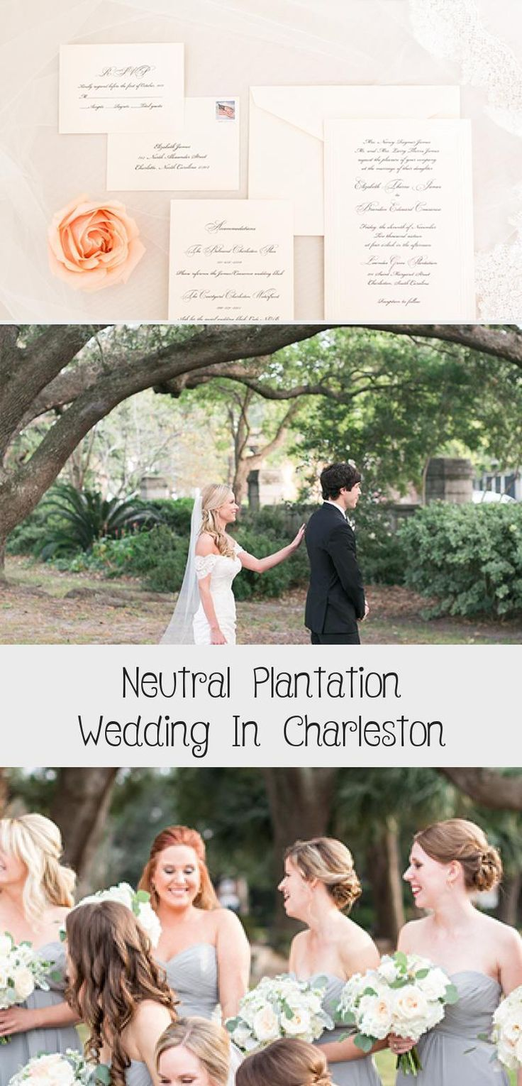 Neutral Plantation Wedding in Charleston - Inspired By This #BridesmaidDressesSpring #SatinBridesmaidDresses #PeachBridesmaidDresses #BridesmaidDressesWithSleeves #BridesmaidDressesStyles