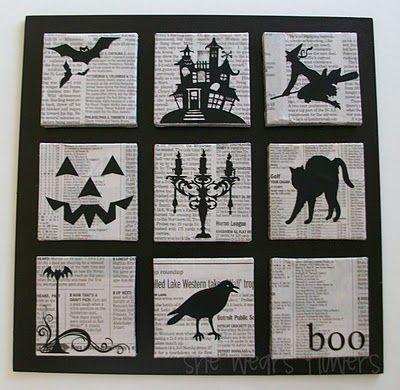silhouette board for halloween
