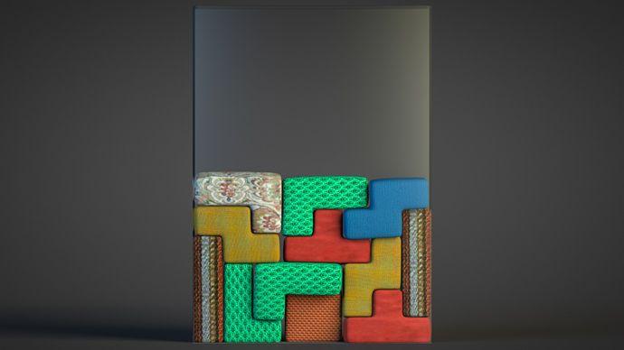 Free Cinema 4D Project File: Softbody Tetris