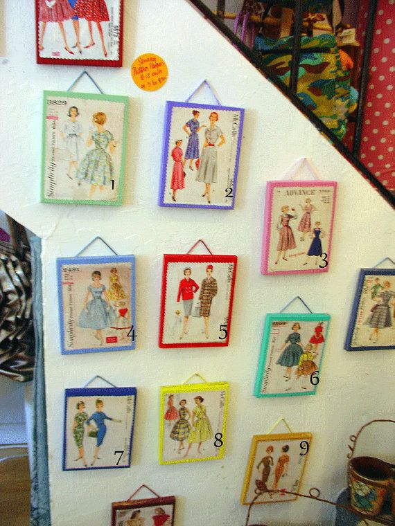 use old patterns to decorate for a sewing party