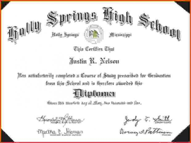 Printable High School Diploma Templates Absolute Free High
