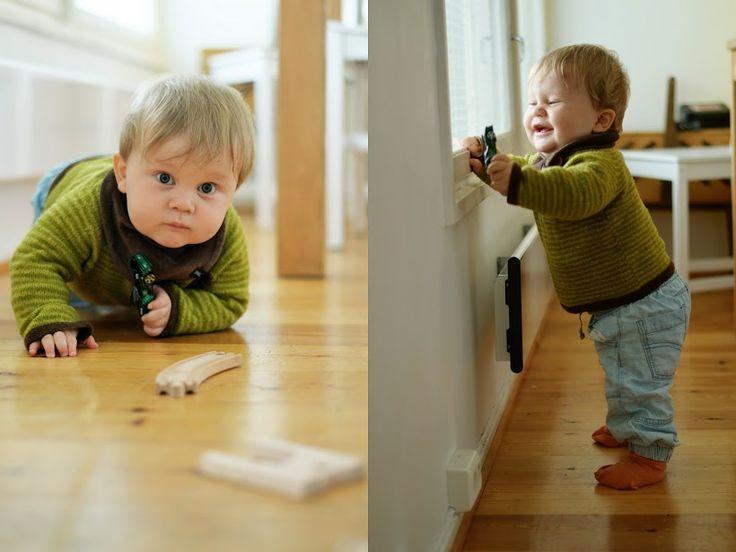Vibelig: Ny gutt i gammel genser