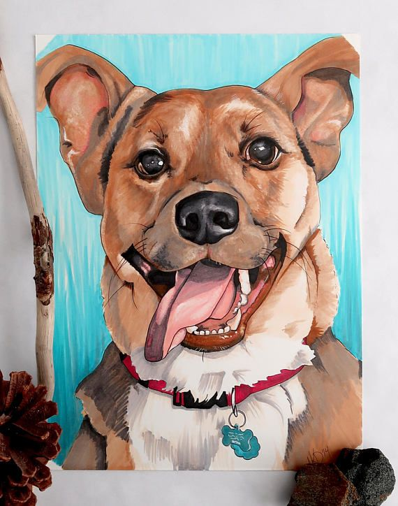 Pet Portrait Made-to-Order Art Unique Gift Drawing