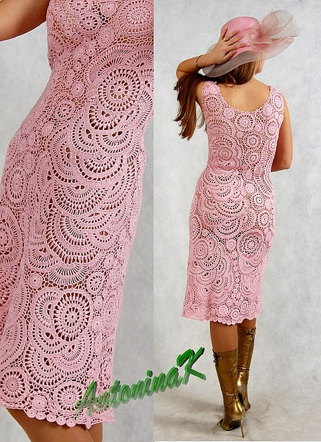 freeform crochet #dress by Antonina Kuznetsova