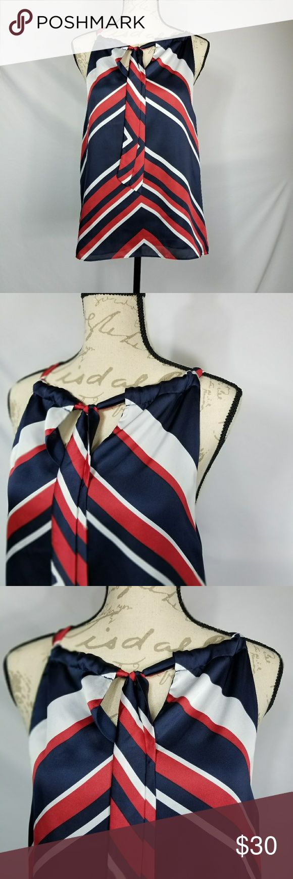 """Chaps patriotic Top Chaps patriotic tank top. 100% polyester.  34"""" long and the front chest is 20"""" long Chaps Tops Tank Tops"""