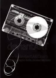Photogram of a casette tape